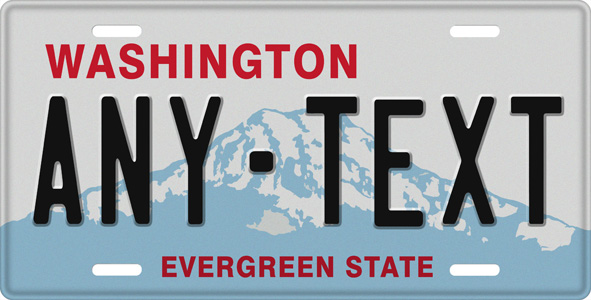 Washington License Plate, Washington License Tag