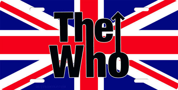 The Who License Plate, The Who License Tag