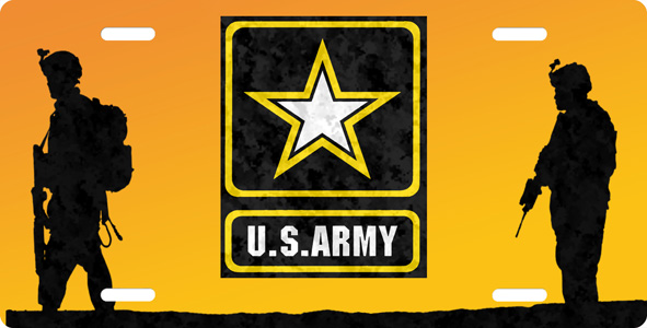 US Army Soldiers License Plate License Plate, US Army Soldiers License Plate License Tag