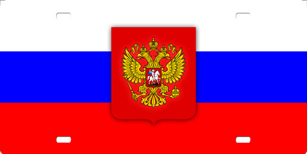 Russia flag License Plate, Russia flag License Tag