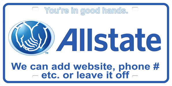 Allstate License Plate License Plate, Allstate License Plate License Tag