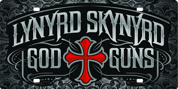 Lynyrd Skynyrd God and Guns License Plate, Lynyrd Skynyrd God and Guns License Tag