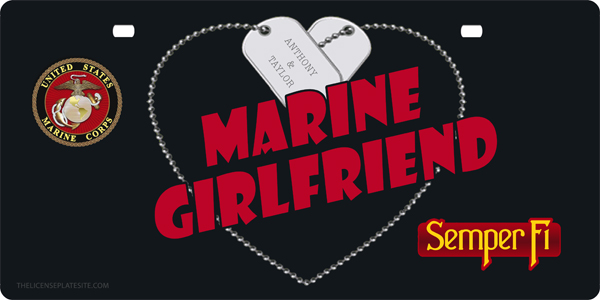 Marine Girlfriend License Plate Personalized License Plate, Marine Girlfriend License Plate Personalized License Tag