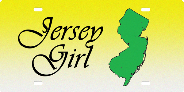 Jersey Girl License Plate License Plate, Jersey Girl License Plate License Tag