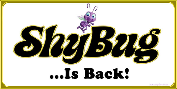 Shy Bug Is Back License Plate License Plate, Shy Bug Is Back License Plate License Tag