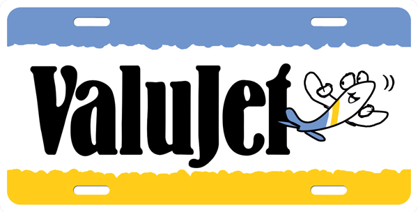 Valujet License Plate License Plate, Valujet License Plate License Tag