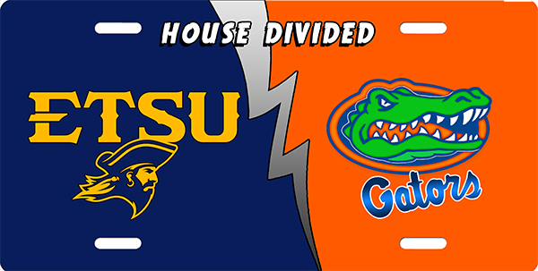 UTSU and UF House Divided License Plate License Plate, UTSU and UF House Divided License Plate License Tag
