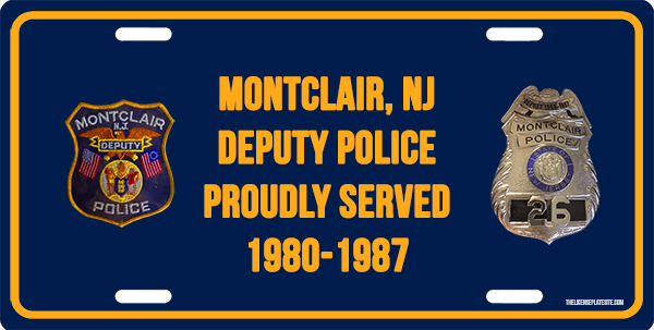 Montclair Deputy License Plate License Plate, Montclair Deputy License Plate License Tag