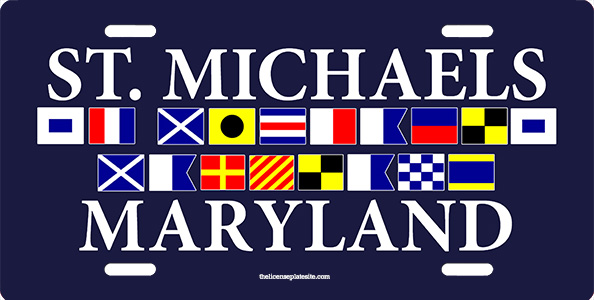 St Michaels Maryland License Plate License Plate, St Michaels Maryland License Plate License Tag