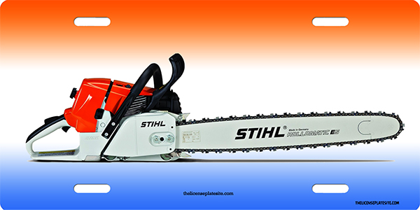 Stihl Chainsaw License Plate License Plate, Stihl Chainsaw License Plate License Tag
