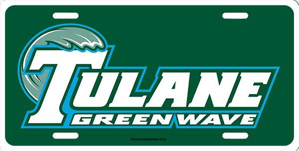 Tulane License Plate License Plate, Tulane License Plate License Tag